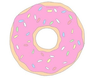 donut and overlay image