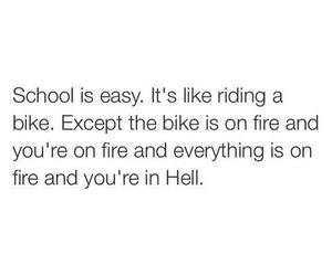 school, hell, and quotes image
