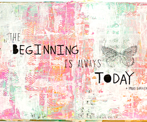 art journal, quote, and the beginning... image