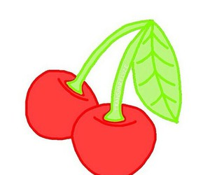 cherry, overlay, and red image
