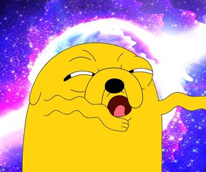 galaxy, JAKe, and adventure time image