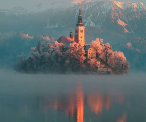 nature, castle, and slovenia image
