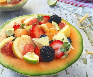fruit, healthy, and melon image