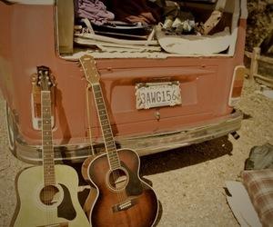 guitar, car, and music image