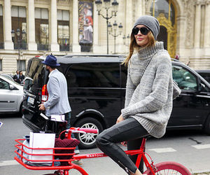 fashion, bike, and red image