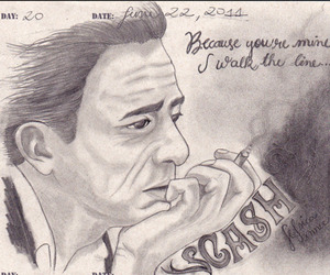 draw and Johnny Cash image