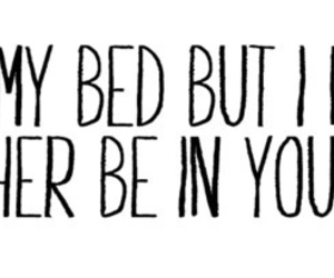love, bed, and quote image