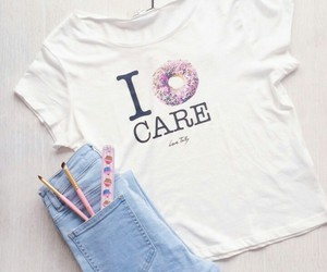 donut, t shirt, and white image