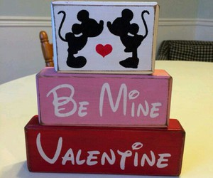 be mine, valentine, and mickey and minnie image