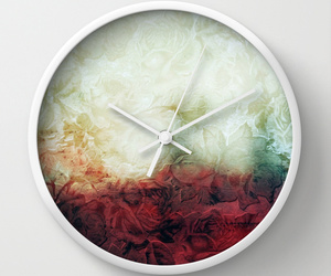 art, clock, and home image