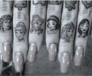 tattoo, princess, and disney image