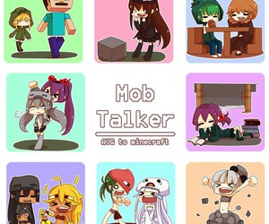 chibi, minecraft, and mob talker mod image