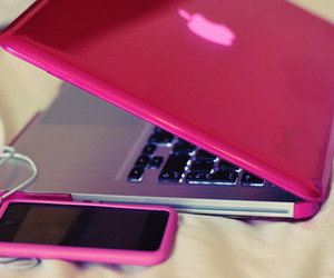apple, pink, and computer image