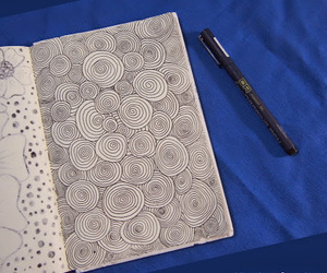circle, doodle, and drawing image
