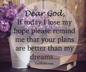 Dream, god, and plans image