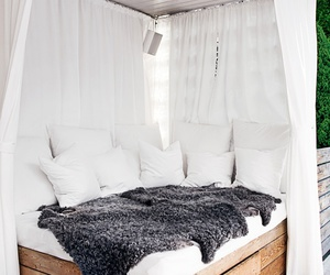 bed, white, and interior image