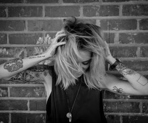 tattoo, alysha nett, and black and white image