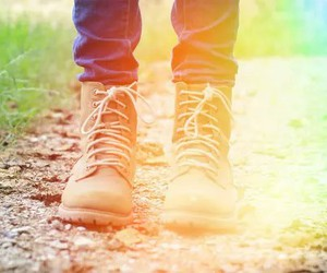 boots, rainbow, and shoes image
