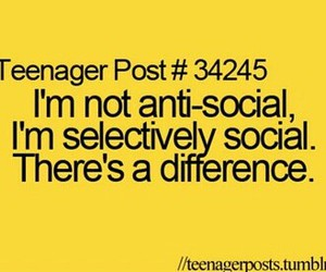 anti-social, funny, and difference image