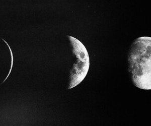 moon, black and white, and black image