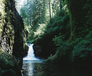 hike, river, and water image