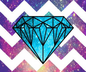 diamond, blue, and galaxy image