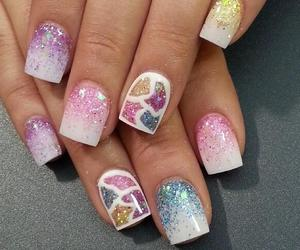 fashion, glitter, and manicure image