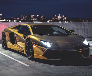 car, luxury, and gold image