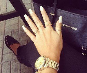 nails, Michael Kors, and bag image
