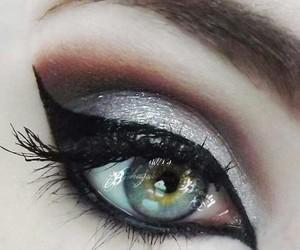 black, bold, and eye image