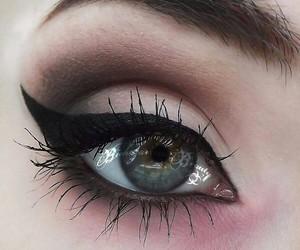 black, eyeliner, and wings image