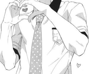 manga, anime, and heart image