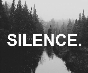 silence, black, and black and white image