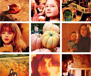 harry potter, orange, and lily potter image