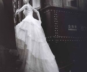 cool, white dress, and woman image