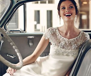 bride, dress, and car image