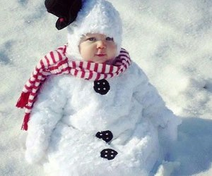 snow, baby, and winter image