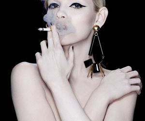 smoke, model, and blonde image