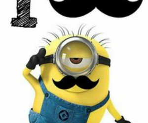 minions, mustache, and moustache image