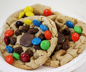 Cookies, food, and m&ms image