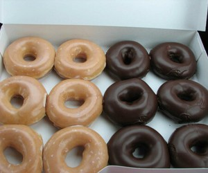 chocolate, donuts, and food porn image
