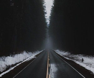 cold, road, and nature image