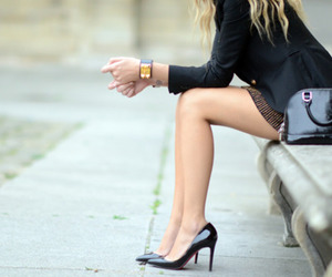 black, legs, and style image