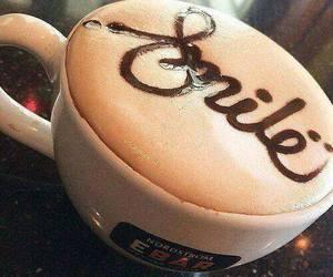 coffee, smile, and food image