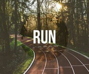 run, forest, and sport image