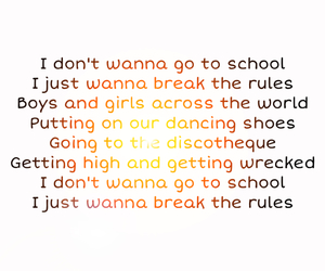 break the rules, charli xcx, and official song image