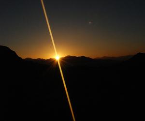 sunset, night, and sun image
