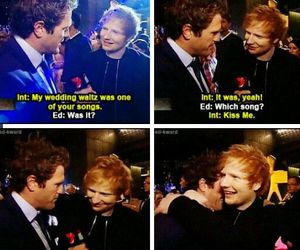 ed sheeran, british, and kiss me image