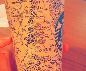 starbucks, map, and the lord of the rings image