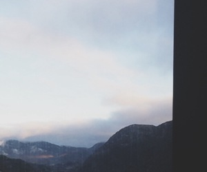 bergen, mountains, and clouds above image